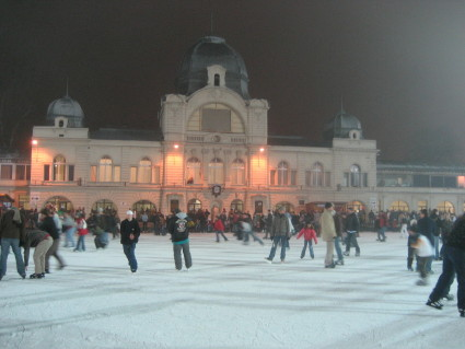 After Statue Park, we went to City Park to go ice skating.