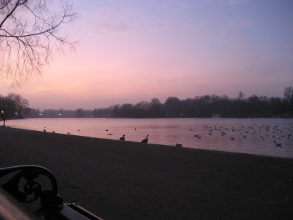Hyde Park Sunset on the Serpentine
