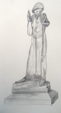 St. James Piccadilly Wailing Woman Statue