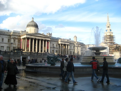 Trafalgar Square, National Gallery, London
