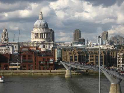 St. Paul's Cathedral and Millennium Bridge