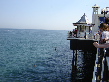 Jumping off brighton pier