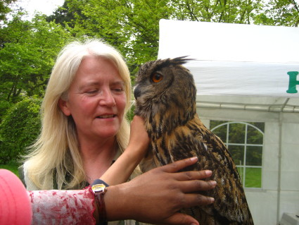 touching an owl