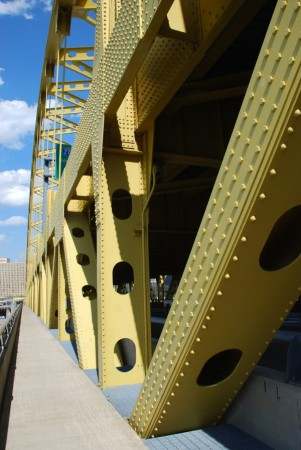 Crossing the Fort Pitt Bridge into Downtown