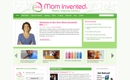 The new Mom Invented website