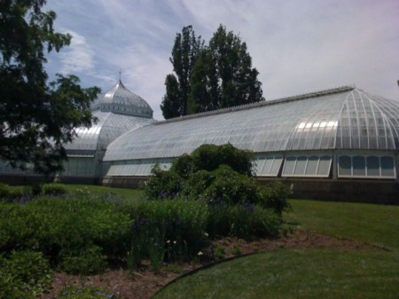 The elegant Phipps Conservatory Glass House