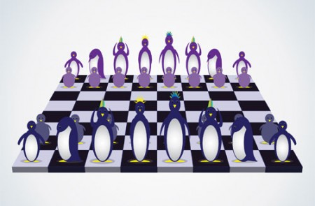 Penguin Chess Set