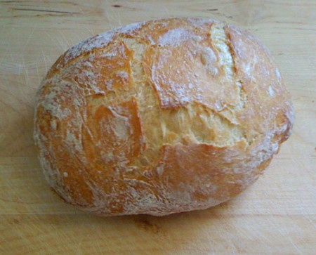 No-knead bread trial #2 - quite a nice looking loaf