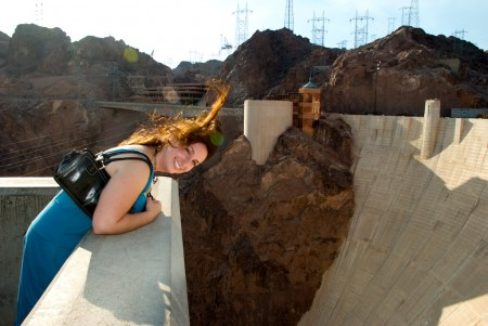 Feeling the updraft at the Hoover Dam