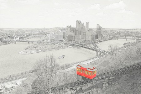 Pittsburgh Photo Pencil Sketch (Click for a Bigger View)