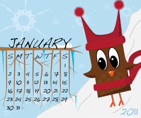 Owl Calendar January