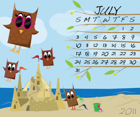 Owl Calendar July