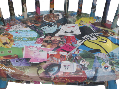 Decoupage Chair - Photomontage